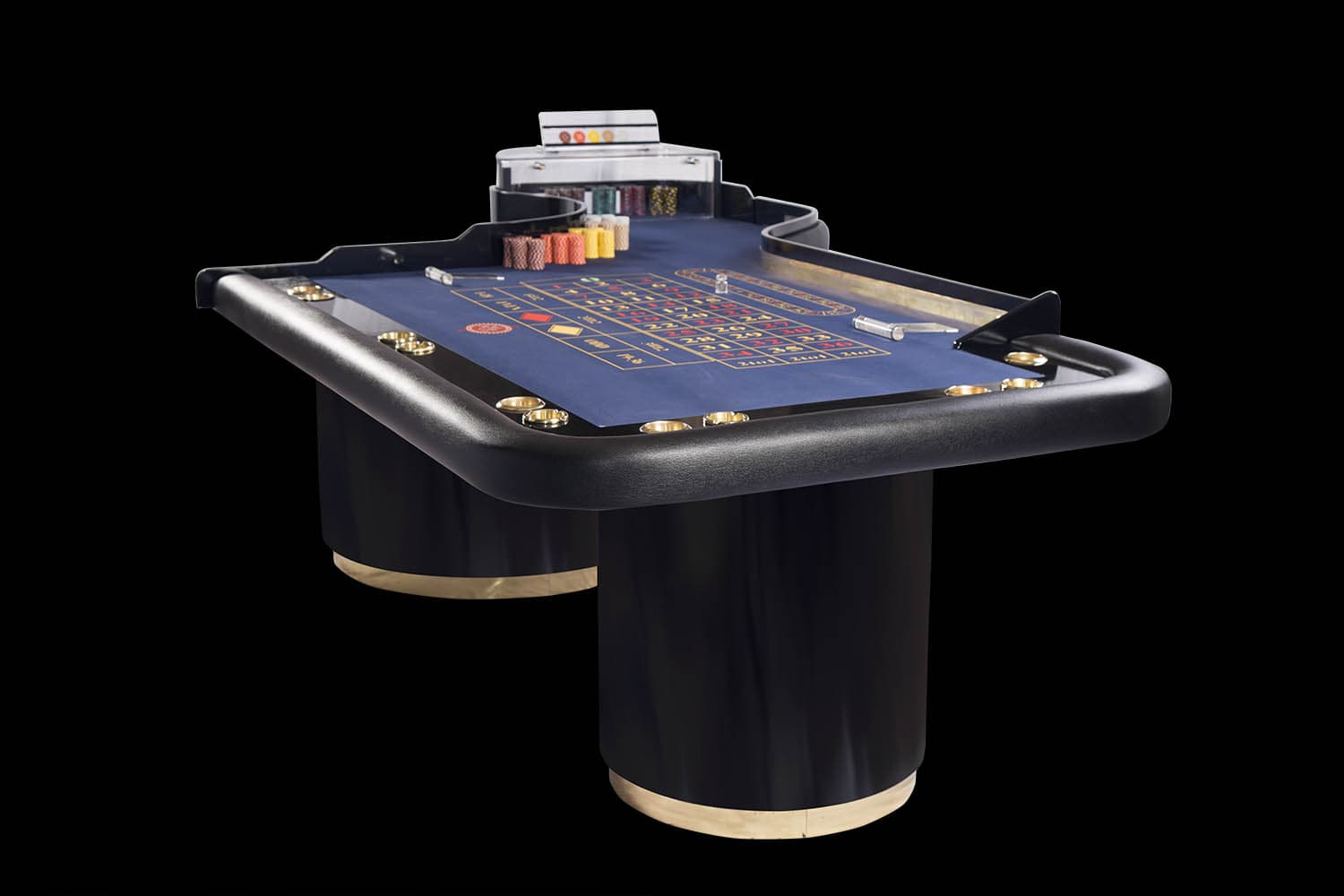 Lacquered Polish Wood Roulette Table